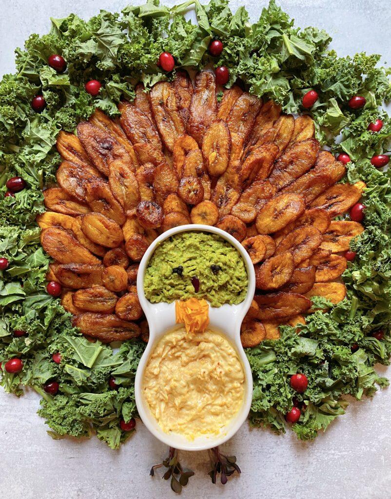 Turkey plantain platter